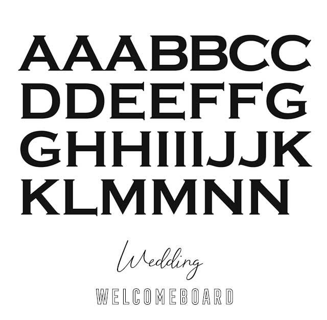 ミキシーボのアルファベット